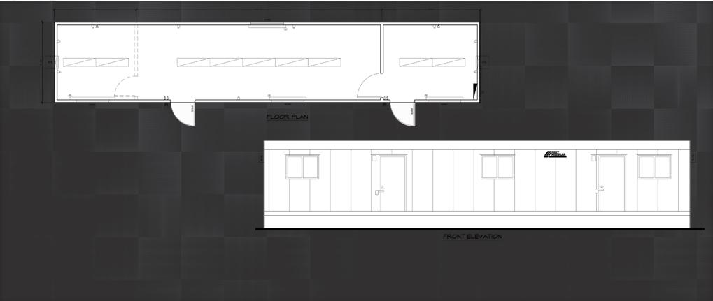12 x 52 modular building field office floor plan for 12x40 mobile home floor plans