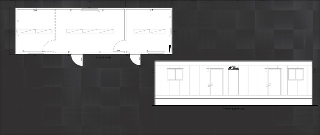 12 x 40 modular building field office floor plan for 12 x 40 mobile home floor plan